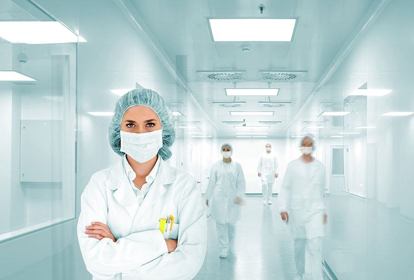 Antimicrobial additives to prevent cross-contamination in healthcare environments